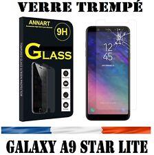 vitre protection verre trempé film écran pr Samsung Galaxy A9 Star Lite