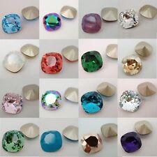SWAROVSKI Crystal 4470 12mm SQUARE CUSHION CUT BEAD ~ Variable Color