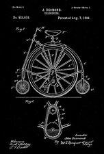 1894 - Velocipede - J. Desmond - Patent Art Poster