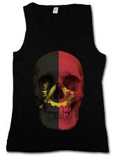 Classic Angola Skull Flag donna Tank Top Bandiera Bandiera Banner