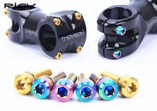6pcs/pack Bike Stem Bolts Titanium/Gold/Rainbow MTB Bicycle Screw With Washers