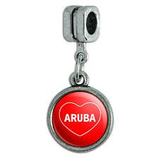 Italian European Style Bracelet Charm Bead I Love Heart Country A-B