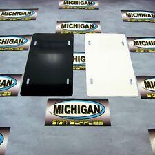 Two-Sided Gloss White/Black .024 Aluminum License Plate Blank