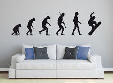 ADESIVI Muro: Snowboard EVOLUTION Decorazione Adesivi Sport Invernali Bambini Muro Tatuaggio