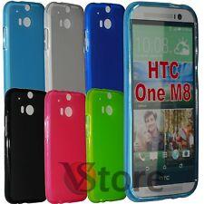 Cover Custodia Per HTC One M8 Gel Silicone TPU + Pellicola proteggi schermo