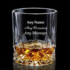 PERSONALISED Engraved Whiskey Spirit Glass Whisky Tumbler Birthday Wedding Gift