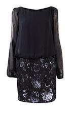 Aidan Mattox Women's Cold-Shoulder Chiffon Sequined Dress