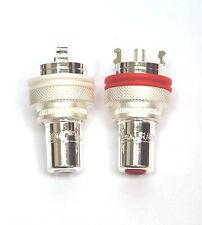 2pair RCA Audio Female Jack CMC 805-2.5-Ag 805-2.5Ag Silver Plated
