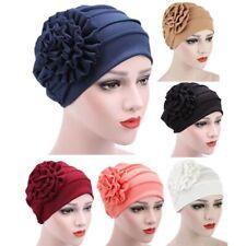 Outdoor Cotton Women's Fashion Flower Hat Chemo Turban Hijab Beanie Baggy Cap