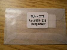 Genuine ELGIN Replacement Watch Part #175 - 532 - 5578 - TIMING SCREW - NOS