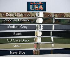 Web Belt Cotton Canvas Military Silver Buckle Adjustable Uniform Webbed Skater