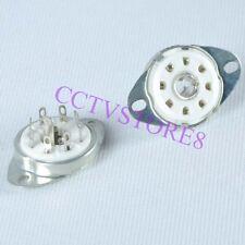 12pc Ceramic Tube Socket LOCTAL B8G Base Chassis Mount 8Pin For 5B254 1LA6