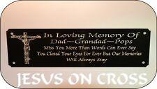 PERSONALISED MEMORIAL BENCH PLAQUE SIGN JESUS DESIGN  ANY WORDING U WISH 160x55