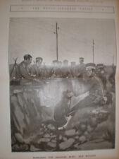 Il GIAPPONE mobilitare l'esercito delle razioni di riso 1904 stampa
