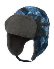 GYMBOREE SKI PATROL BLUE CAMOFLAUGE FUR TRIM TRAPPER HAT 5 6 7 8 10 12 NWT