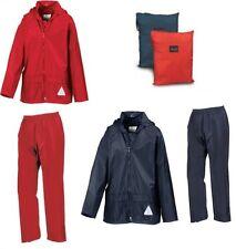 Kids Result Waterproof Jacket & Trousers Rain Suit Rainsuit Childrens Boys Girls
