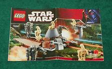 LEGO 7654 - Star Wars: Droids Battle Pack - INSTRUCTION MANUAL