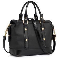 LS0043 para mujer Grande Bolso de hombro bolso grande bolsa de detalle de la hebilla