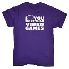 Te amo más de los juegos de video Corazón Diseño Para Hombres Camiseta Camiseta Cumpleaños Divertido