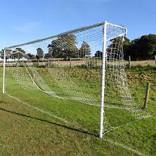Black & White Striped Full Size Football Goal Nets - [Net World Sports]