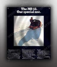 VINTAGE MOTO SKI 1971 MS-18 SNOWMOBILE BANNER