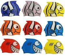Bambini Piscina Silicone Cuffia Nuoto Pesce Squalo Cartone Animato Cappello