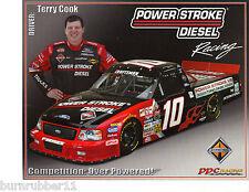 "2004 TERRY COOK ""POWER STROKE DIESEL FORD"" #10 NASCAR TRUCK SERIES POSTCARD"