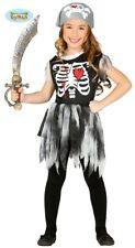 Piraten Skelett Kleid Halloween Karnevals Kostüm für Mädchen Gr. 98-146