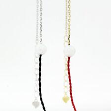 Genuine 925 Sterling Silver Women's 6mm Cute Opal Ball Bead Charm Bracelet Chain