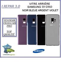 Vitre Arrière Samsung S9 G960 Noir Bleu Argent ou Violet