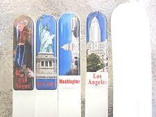 Czech Crystal Glass Nail File Mont Bleu Padded City Print Adornment Your Pick