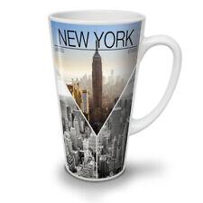 New York City Fashion New Blanc Thé Café Tasse Latté 12 17 oz (environ 481.93 g) | wellcoda