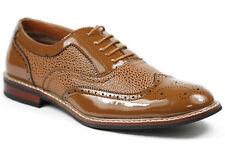 Ferro Aldo Camel Brown Lace up Cap Toe Oxford Dress Shoes M39001P #616