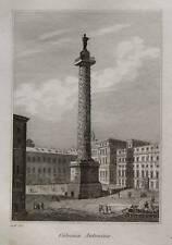 1836:ROMA,COLONNA ANTONINA.LAZIO.GRAVURE.AUDOT.Acciaio.