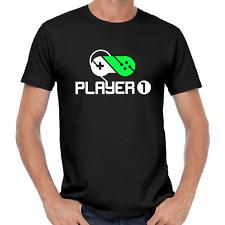 Player 1 2 Spieler Gamer Gaming Geek Nerd Buddy Partner Gamepad Game Bro T-Shirt