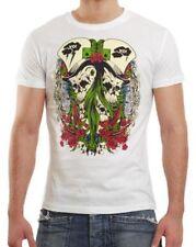 Mightee by Wasabi Wear modisches T-Shirt Herren Hemd Shirt Clubwear weiß Style S