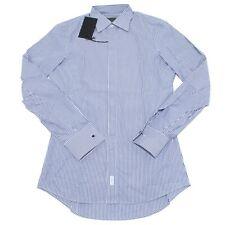 9619M camicia uomo DSQUARED shirt men gessata bianco/blu