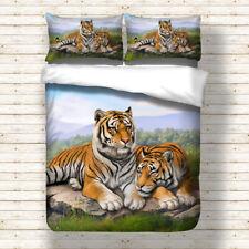 Tiger Duvet Cover Pillowcase Twin Full Queen King Bedding Set Animal New Design