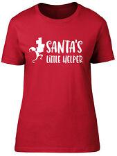 Santas Little Helper Elf Christmas Xmas Womens Ladies Short Sleeve T-Shirt