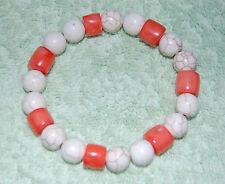 Genuine, Irregular, Coral & Turquoise Gemstones Bead Bracelets - Unisex.