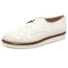 B1652 scarpa donna TOD'S DERBY scarpe bianca floreale shoe woman