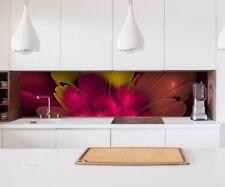 Aufkleber Küchenrückwand 3D Effekt Blume rosa abstrakt Folie Spritzschutz 22A174