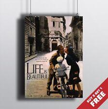 La vita è bella 1997 MOVIE POSTER A3 A4 * CINEMA ITALIANO CLASSICO Pellicola Stampa