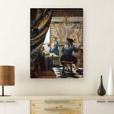 """WANDKINGS Leinwandbild Jan Vermeer - """"die Malkunst"""""""