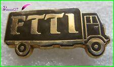 Pin's FTTI Transport Un Camion Trucks Marron #395