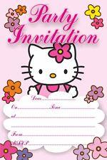 10 x Hello Kitty Children Birthday Party Invitations