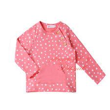 NEW Toddler Girls Star Print T-shirt Fashion Kids Long Sleeve Sweatshirt Top