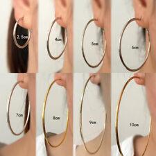 Hoop Style Clip-On Plated Women Fashion Jewelry Beautiful Earrings 2.5cm-10cm