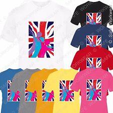 Union Jack T Shirt D6 Great Britain UK Flag - Unisex - England- Mens-Ladies-Kids