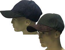 Baseball Cap Hat Blue Green Shooting 40% Wool Faux Suede Winter Fishing Hunting